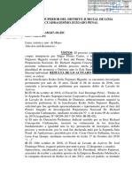 Resolución sobre el hábeas corpus a favor de Keiko Fujimori
