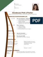 Exemple CV Créatif Bleu