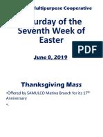 Anniversary Mass- Matina Branch 06.08.19