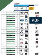 Lista Completa en Usd - U-print -4 de Julio 2018 - Merchandising y Drones en Usd