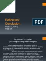 Reflection Teaching Reading