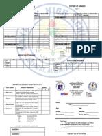 Sample Report Card