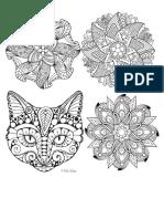 Mandalas Animales y Flores