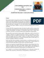 Carta de Renato Marroquín a Los Antigueños. (1)