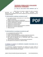 Proyectos de Inversión. Formulación y Evaluación Preguntas y Problemas