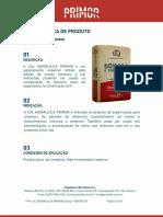 Ftp Cal Hidráulica Primor 20kg Versão 01