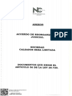 Antecedentes de Acuerdo de Reorganización
