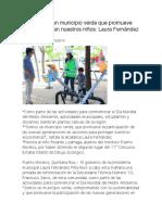 PM _ Somos un municipio verde que promueve esos valores en nuestros niños- Laura Fernández Piña