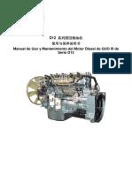 Manual de Uso y Mantenimiento Del Motor Diesel de EURO III de Serie D12 D12国Ⅲ柴油机说明书