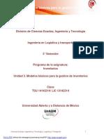 Unidad 3 Inventarios de Modelos Basicos