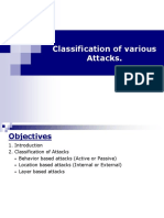 3 Classification of Various Attacks MANET