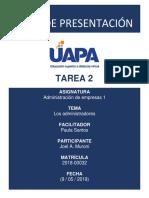 TAREA 01 - Joel Muroni (2018-00032)