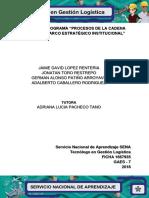Evidencia 1 (Flujograma Procesos de La Cadena Logistica y El Marco Estrategico Institucional