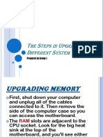 The Steps in Upgrading Different System