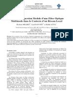 Effet de la Dispersion Modale d`une Fibre Optique Multimode dans