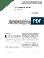 1898, Fin de Ciclo Política Mexicana en El Caribe