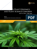 Plant Genomics 2019 Tentative Program