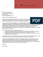 Secretary Cover Letter Clean Red