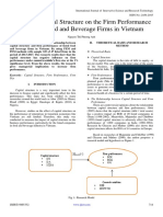 Impact of Capital Structure on the Firm Performance of Listed Food and Beverage Firms in Vietnam