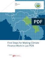 First Steps for Making Climate Finance Work in Lao PDR 2013 1