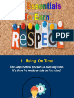 The Essentials to Earn Respect