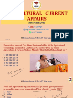 December 2018 Agricultural Current Affairs for AFO, NABARD by ROSHAN KUMAR