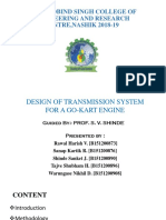 Presentation on Design of transmission system for a gokart