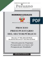 Normativa Proceso Presupuestario Sector Publico