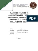 TRANSPORTE PÚBLICO EN ISLAY COLUSIÓN