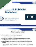 Sales & Publicity Materials