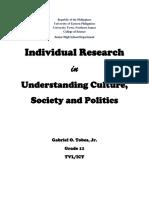 Ethnocentrism and Cultural Relativism