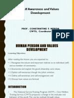Self Awareness and Values Development