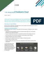Guidewire Cloud Security Data Sheet