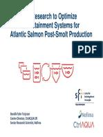 13. Terjesen. CtrlAQUA Research to Optimize RAS for Atlantic Salmon Post-Smolt . AIW