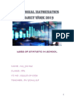 Additional Mathematics Project Work 2019