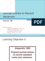 Journal Entries for Variances