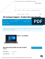 HP product warranty results HP Notebook - 15q-ds0004tx