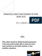 Principle of Functioning of DGPS & ETS