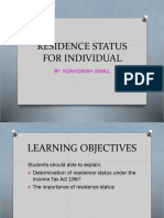2. Resident Status for Individual