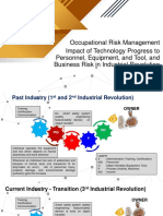 Impact of Technology Progress to Personnel, Equipment, And Tool, And Business Risk in Industrial Revolution