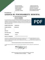 Municipalidad Distrital Licencia n