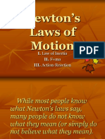 NEWTON LAWS OF MOTION