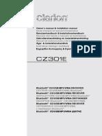 Manual Clarion Cz301