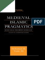 Medieval Islamic Pragmatics—Ali