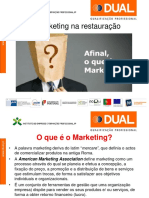 O Marketing na restauração