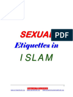 English SEXUAL Etiquettes in ISLAM
