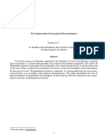 The Fundamentals of Generalized Electrodynamics