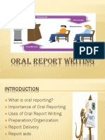 Oral Report Writing