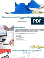 Pharmaceutical Grade Phycocyanin Market Growth 2019-2024.pptx