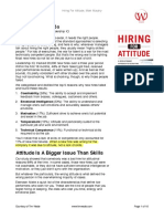Hiring for Attitude book summary